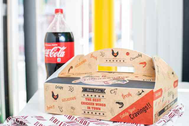 Packaged meal with coke