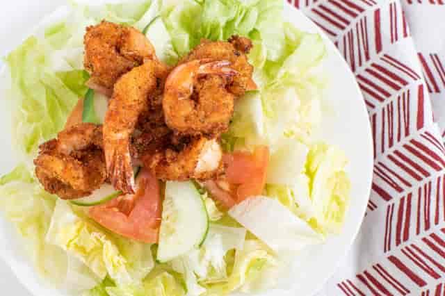 3 Fried shrimp salad
