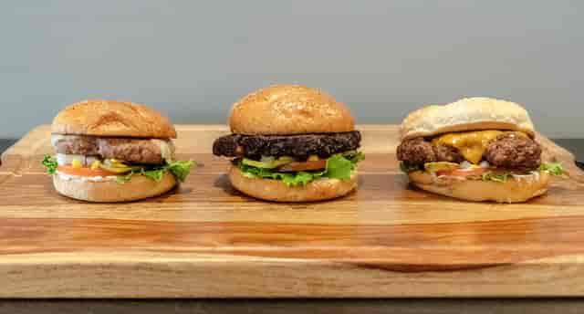 various burgers