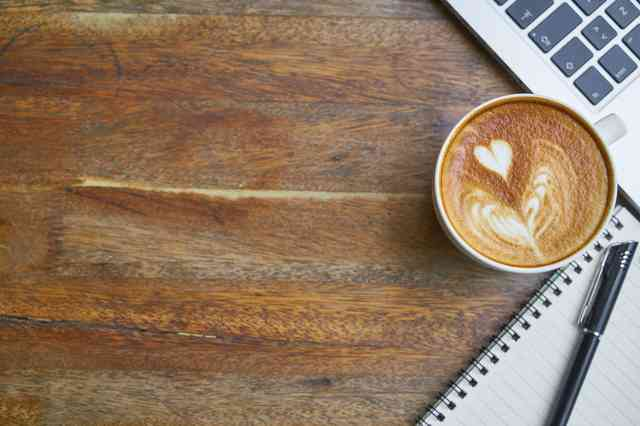 latte by a computer