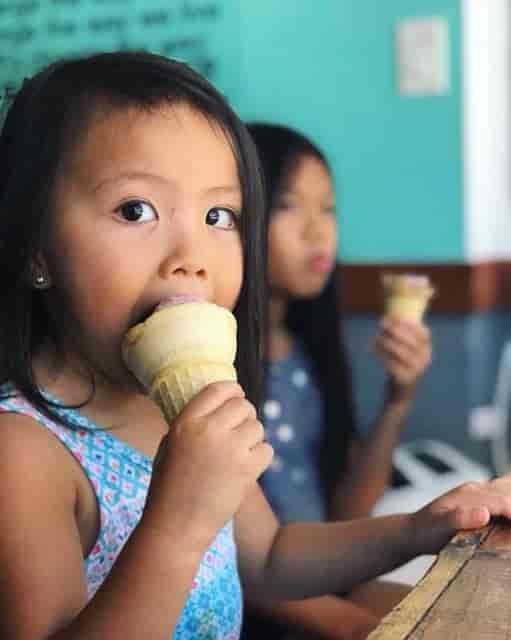 Kids enjoying Ice cream