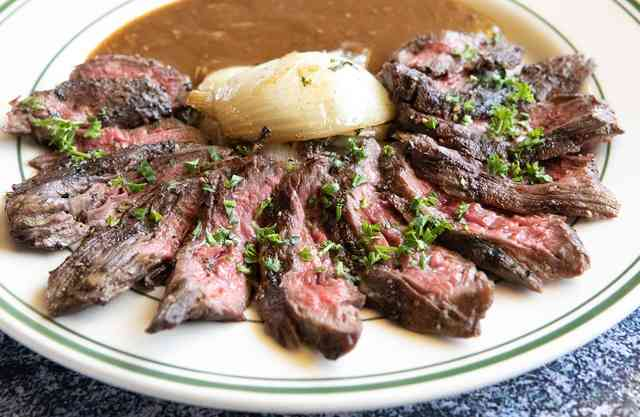 skirt steak au pouvre