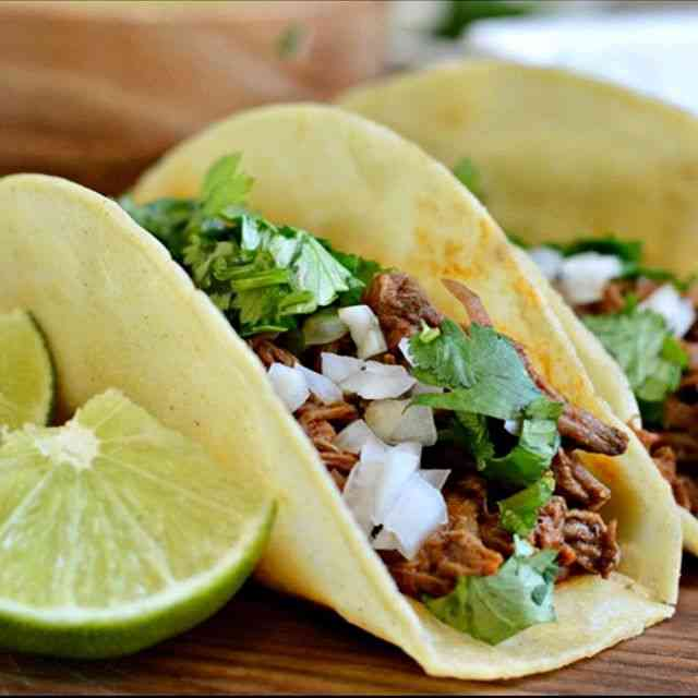 tacos with lime