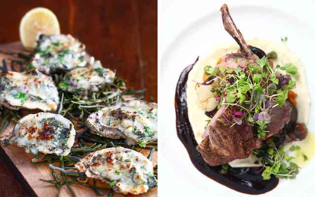 steak and oysters