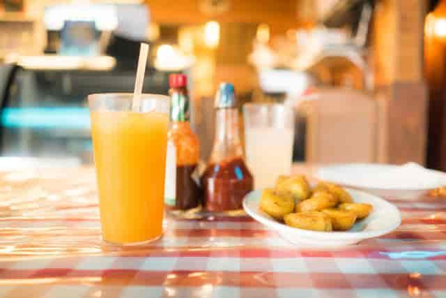 juice and potatoes