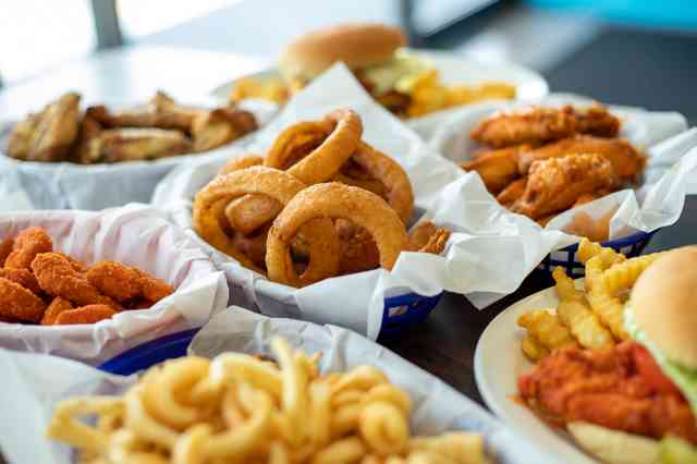 Onion Rings and burgers