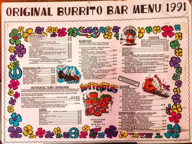 1991 menu