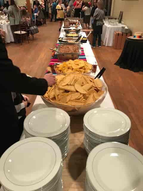 buffet line formal