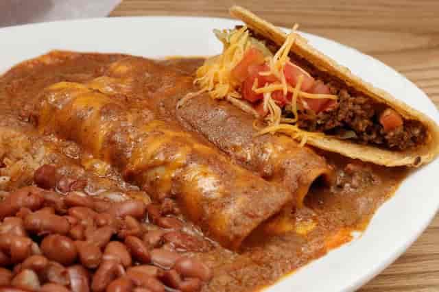 Enchiladas with tacos