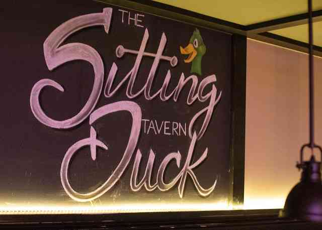 sitting duck sign