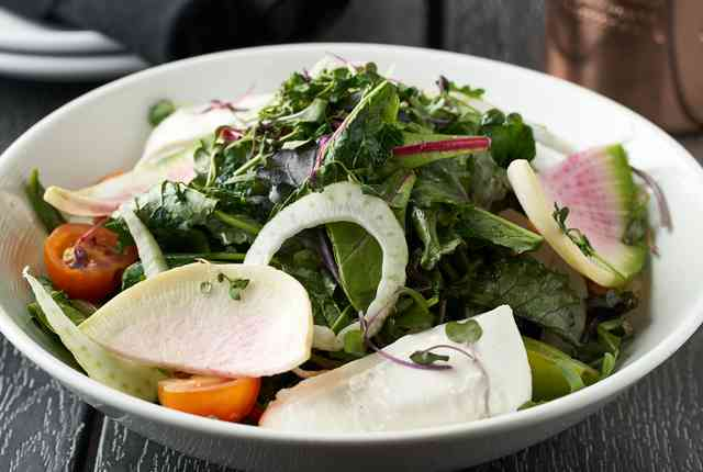 brussels and beet salad