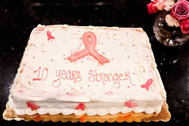 10 years stronger in remission cake