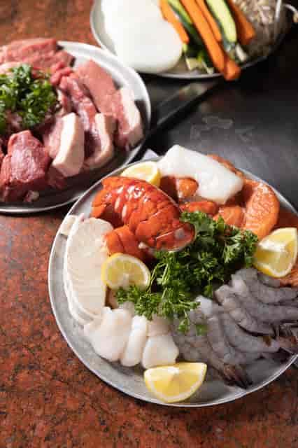 teppan food before cooking