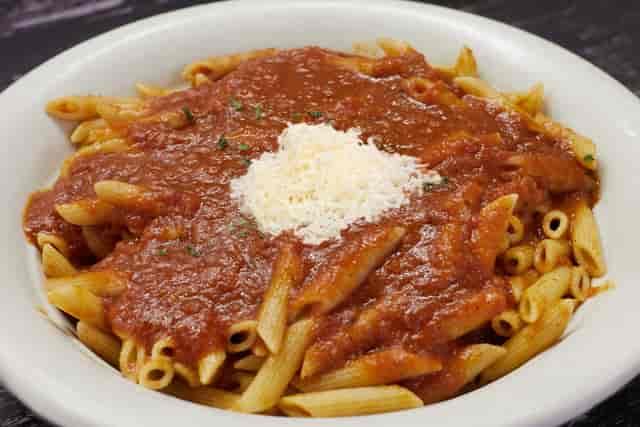 ziti and red sauce