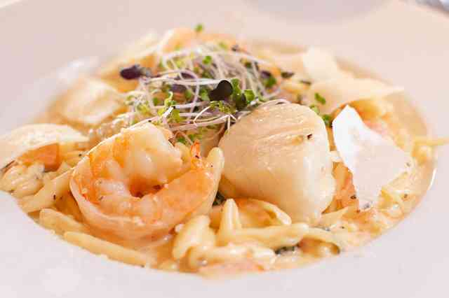 pasta ala vodka with shrimp