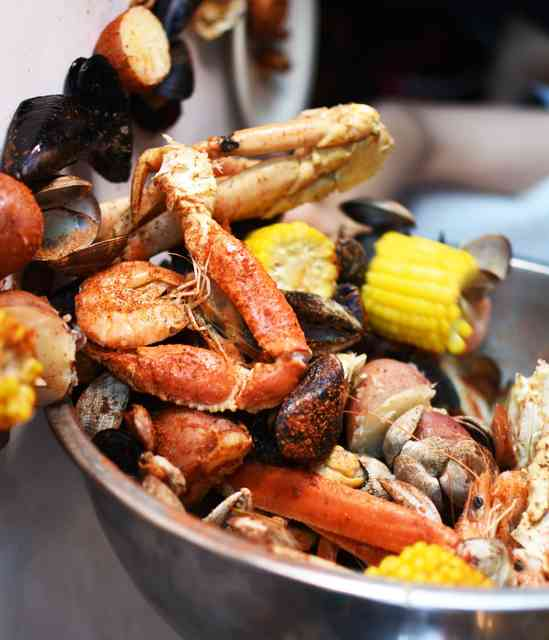 Seafood Feast with Fresh Crab