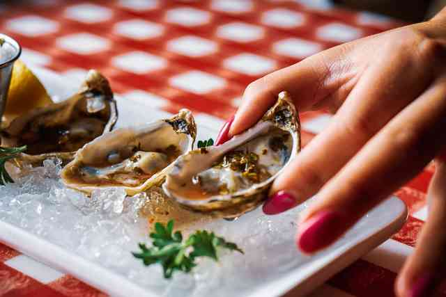 Raw Half Shell Oysters