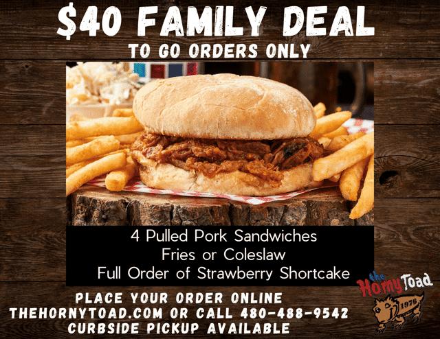 Pulled Pork Family Deal