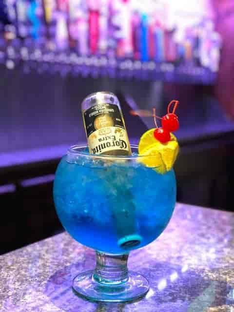 blue drink with Coronita