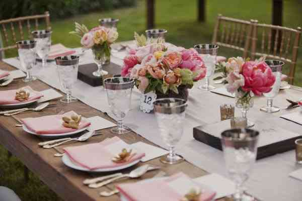 pink table setting