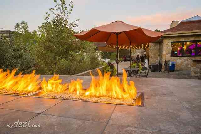 venue exterior electric fire