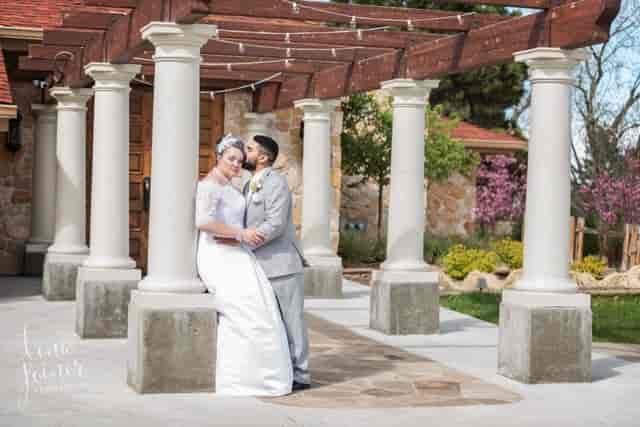 bride and groom venue exterior
