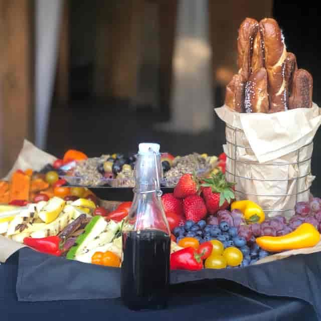 buffet fruit and veggies