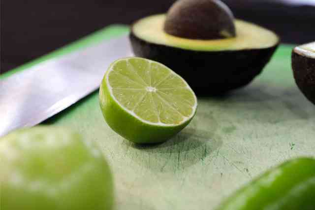 lime and avocado