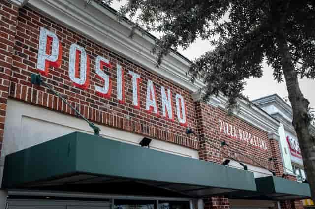 Positano name outside of building