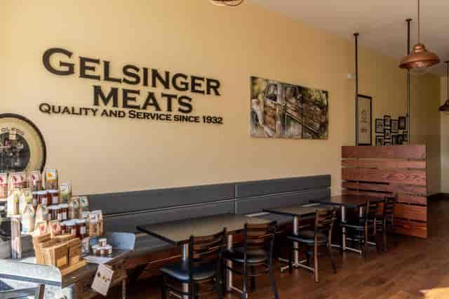 Gelsinger Meats sign