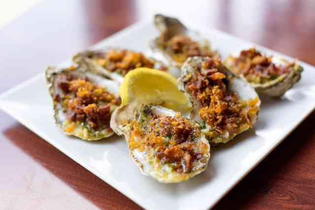 Garlic bacon Oysters