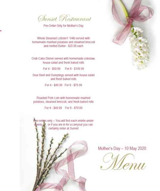 Mother's Day Dinner Carry Out Specials