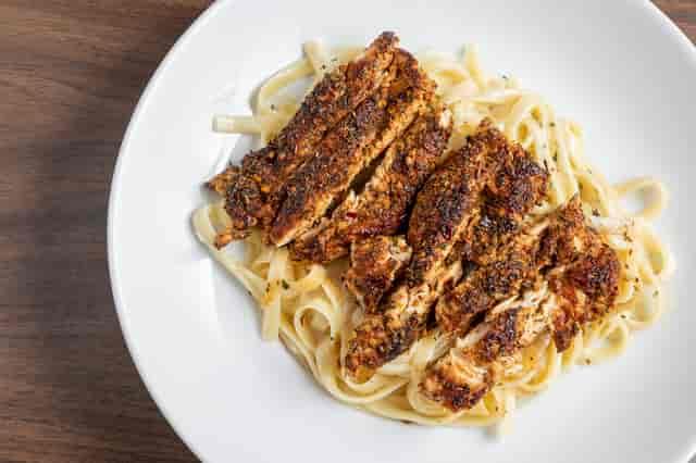 blackened chicken and pasta