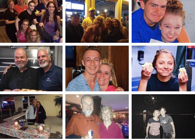 team photo collage