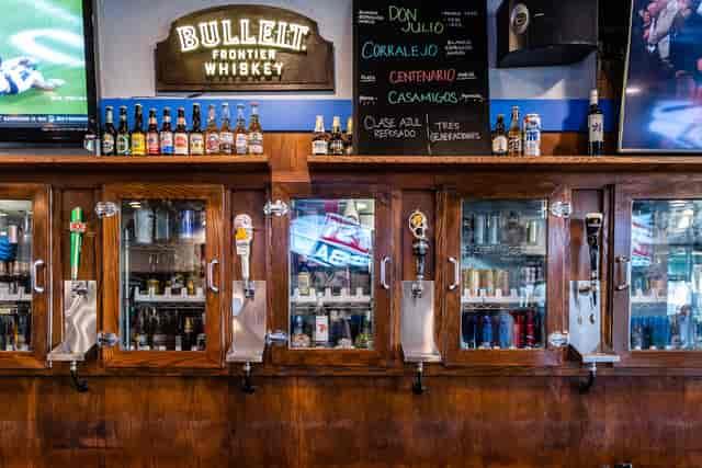 behind the bar