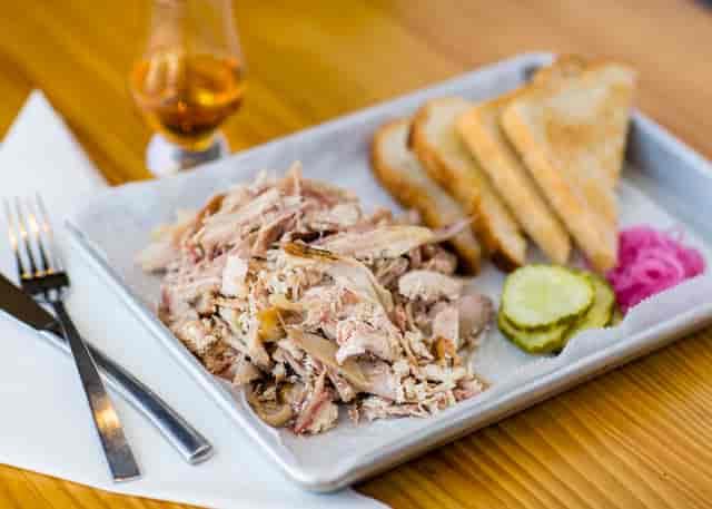 smoked meat plate from landmark smokehouse
