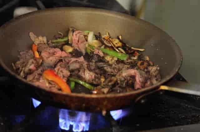 steak in a pan