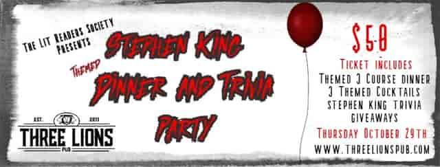 Stephen King Dinner Banner