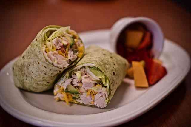 wrap with fruit