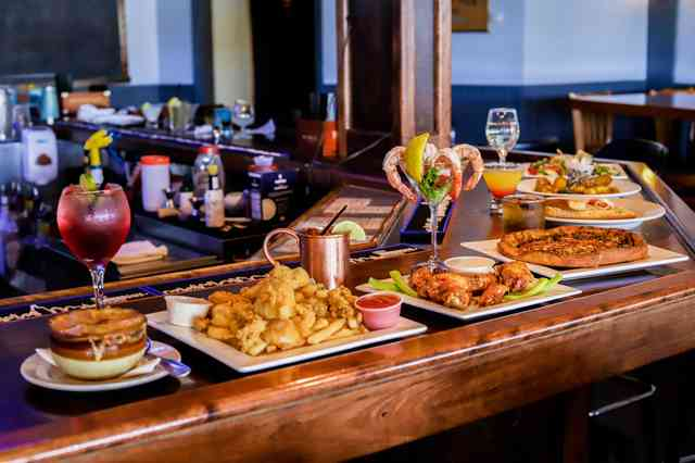 food on bar