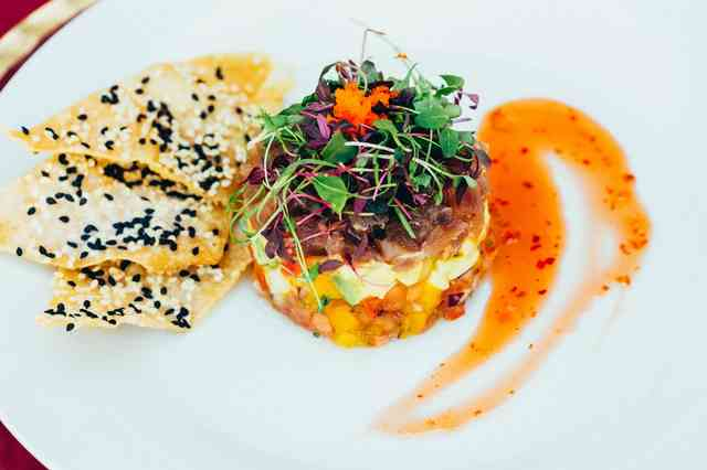 Plated Ahi Tartar Tower