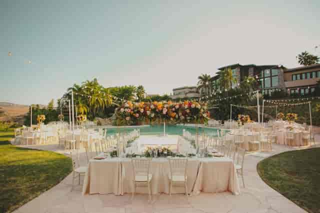 villa contempo poolside reception