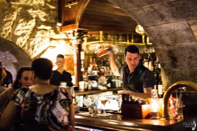 bartender serving