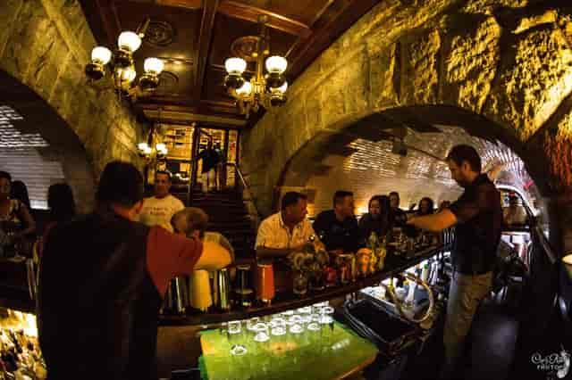 back of bar