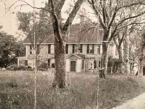 black and white old photo of barker tavern