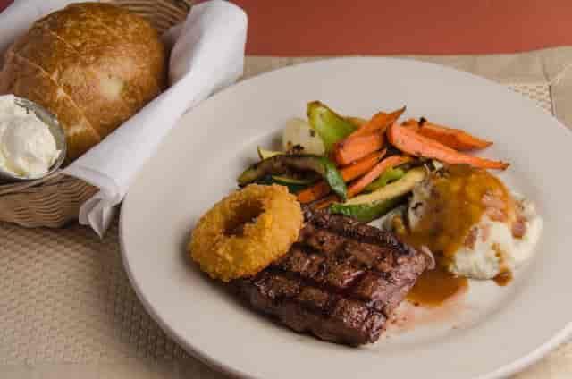 flat iron steak dinner