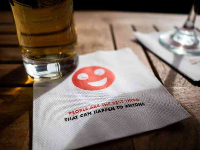 Midici The Neapolitan Pizza Company napkin and beer
