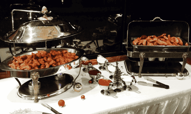 table with food