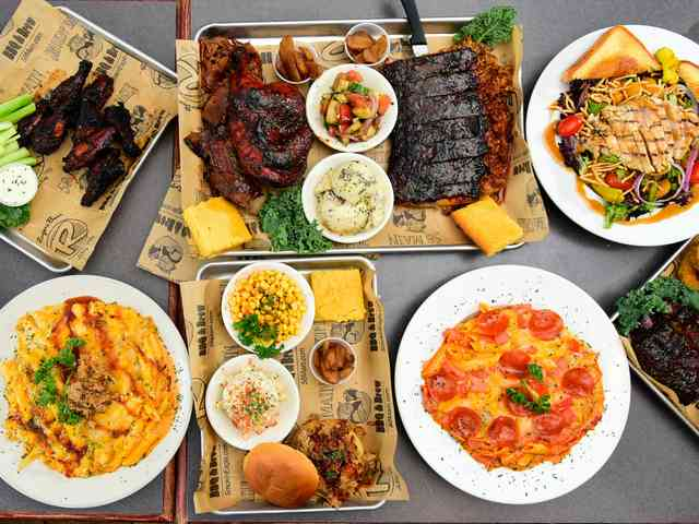 Smokin Eagle BBQ Variety of Dishes