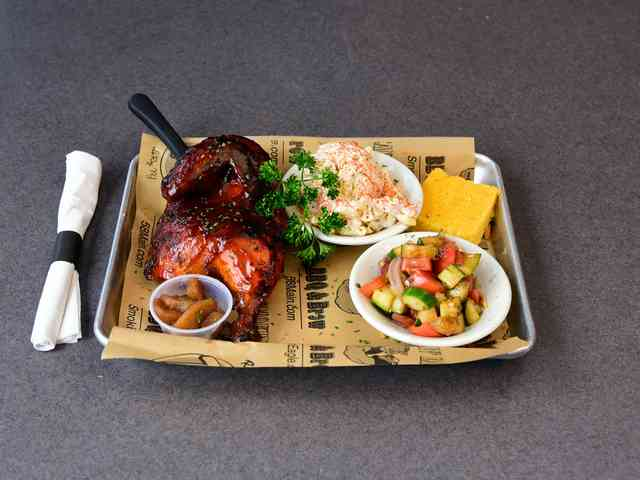 BBQ Chicken Plate with sides